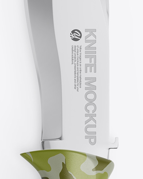 Matte Knife Mockup