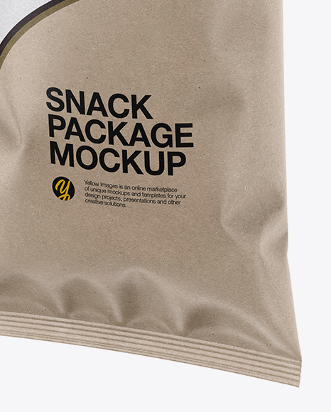 Kraft Snack Package - Half Side View
