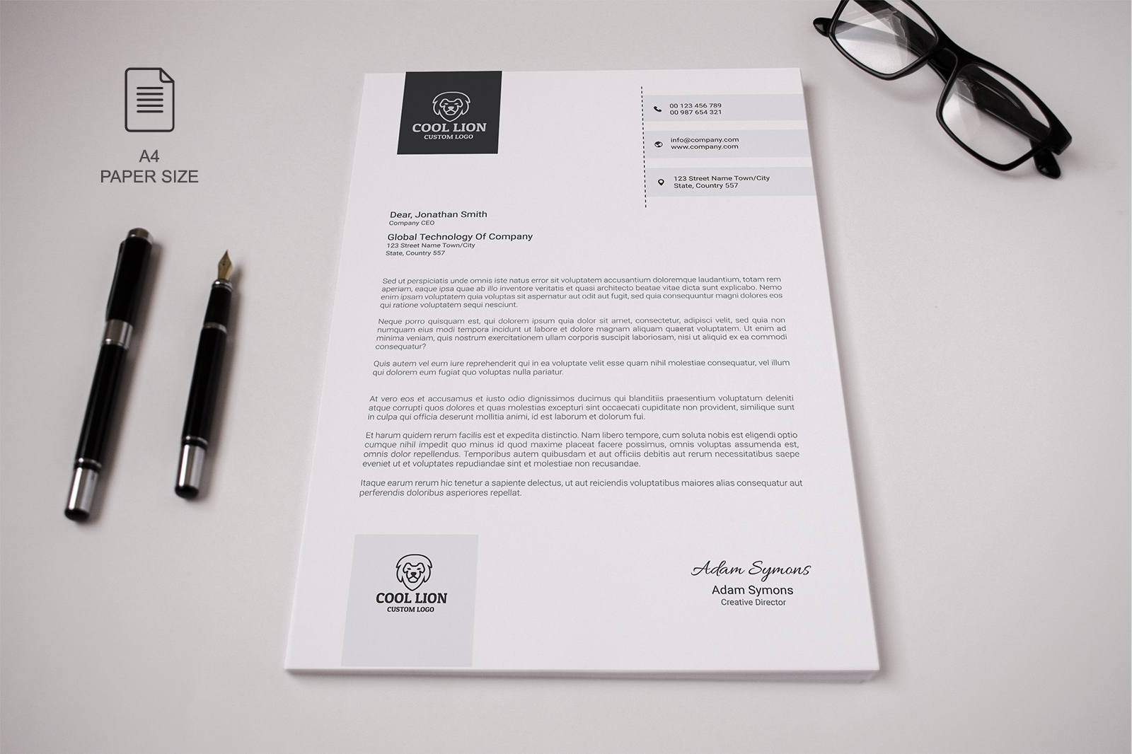 Innovative Letterhead