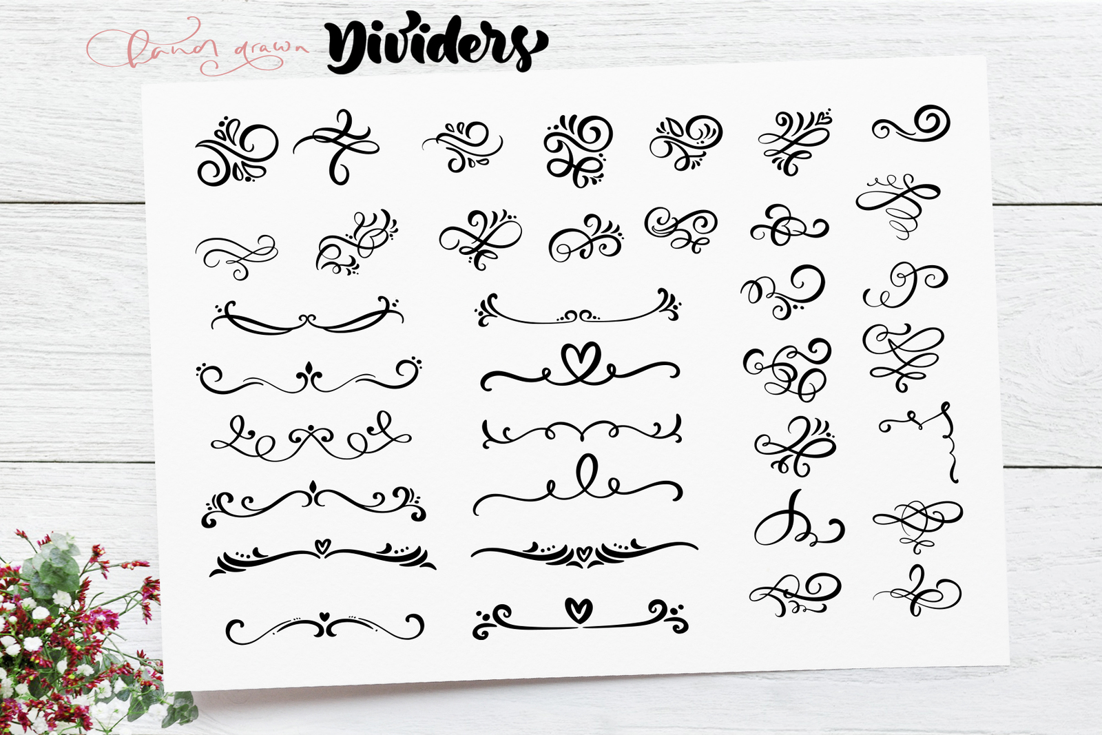 Vector flourish dividers SVG