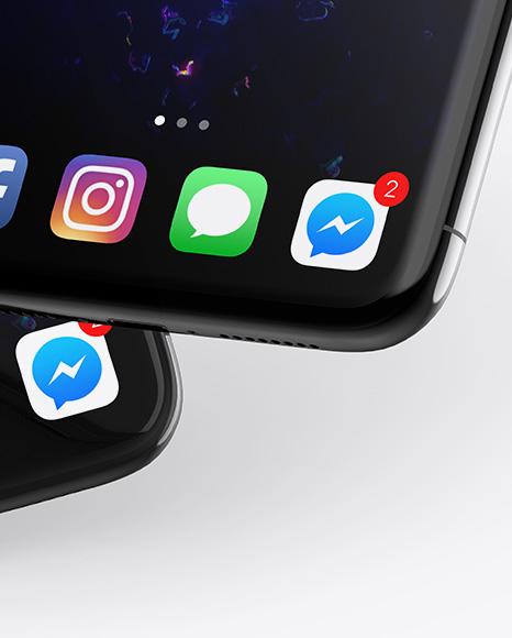 Two Apple iPhones X Mockup