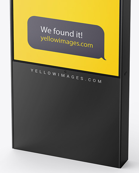 Display Stand Mockup In Outdoor Advertising Mockups On Yellow
