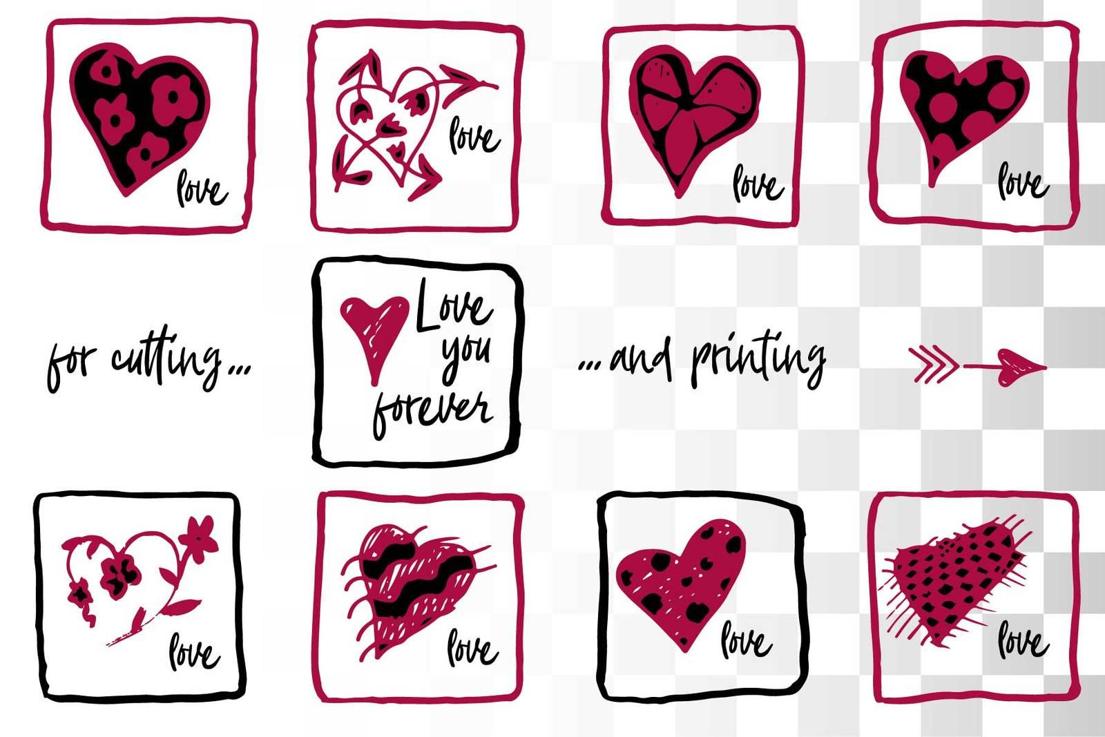 Lovely valentines day set - #2 SVG