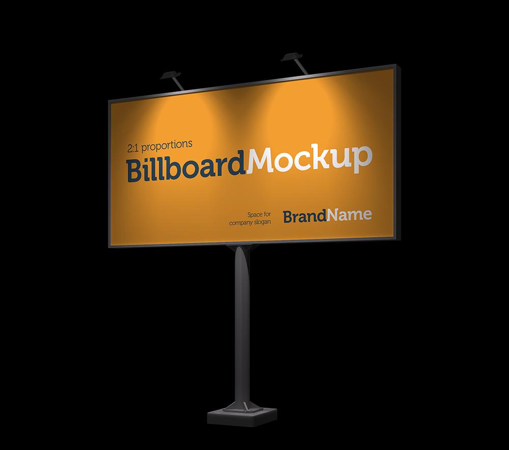 Billboard Mock-Ups. Day & night view