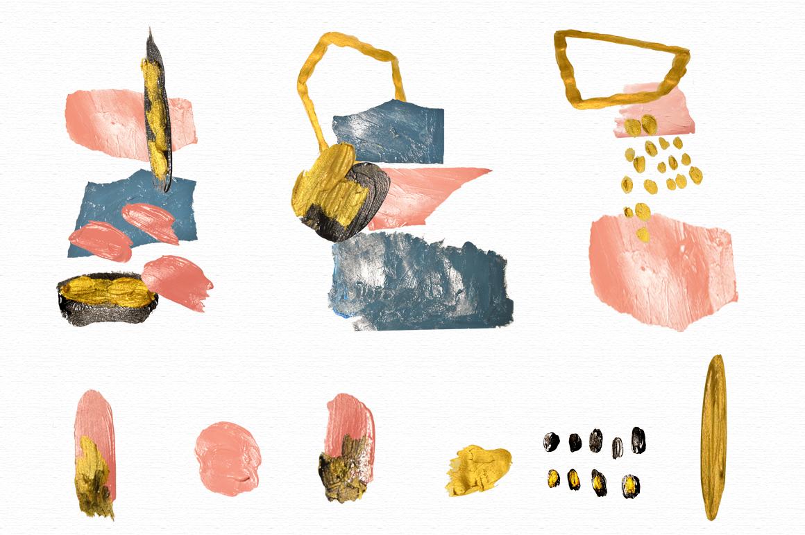 Acrylic art collage
