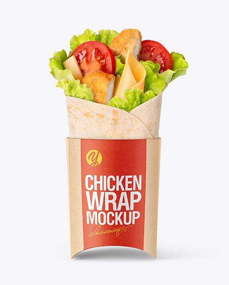 Chicken Wrap Mockup