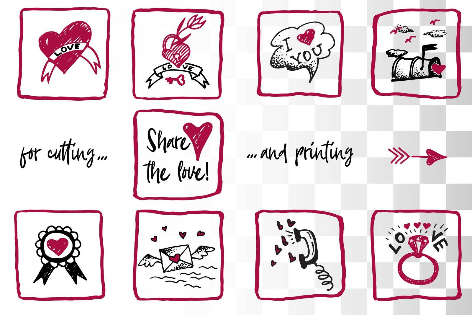 Lovely valentines day set - #4 SVG collection