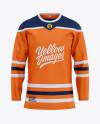 Men's Hockey Jersey Mockup - Front View