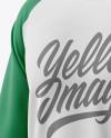 Men's Raglan Long Sleeve T-Shirt Mockup