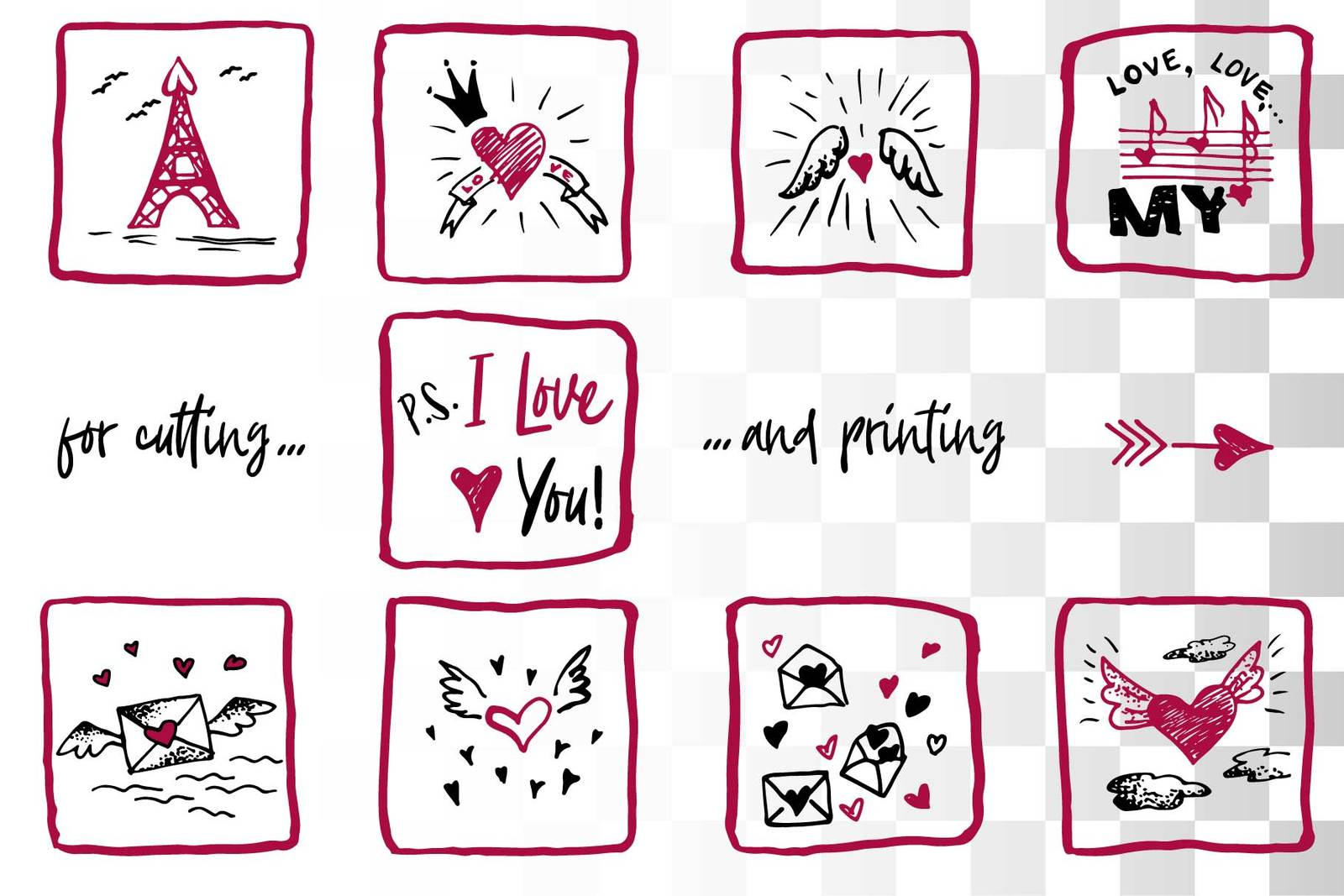 Lovely valentines day set - #5 SVG collection