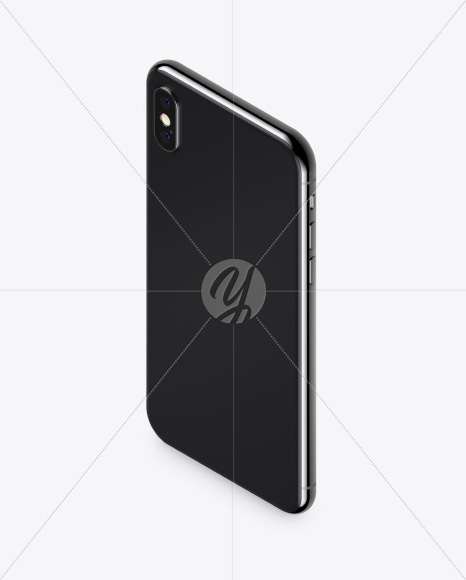 Isometric Apple iPhone X Mockup