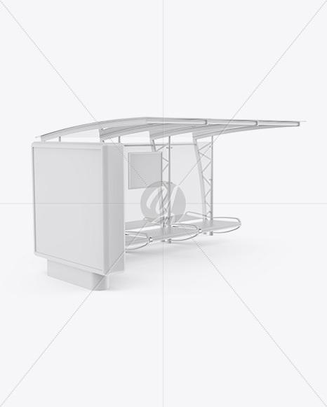 Superb Bus Stop Mockup In Outdoor Advertising Mockups On Yellow Uwap Interior Chair Design Uwaporg