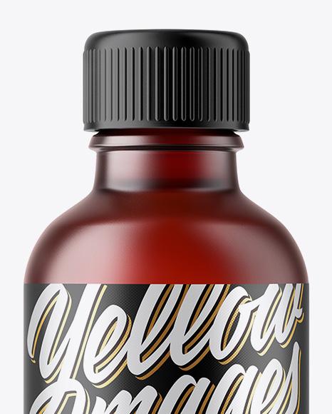 50ml Dark Frosted Amber Glass Bottle