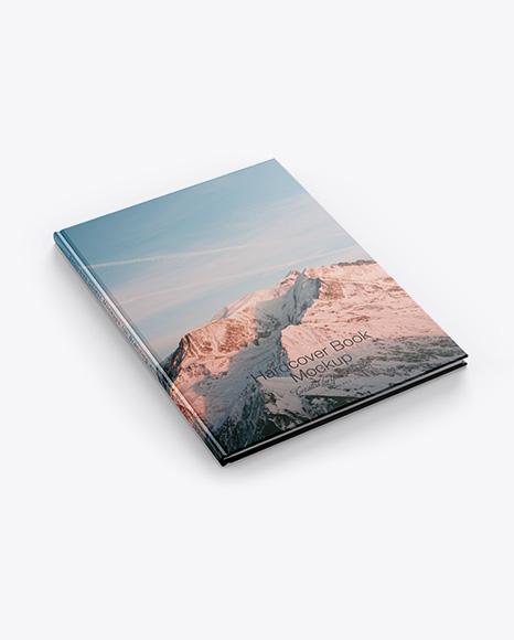 Hardcover Book w/ Matte Cover Mockup