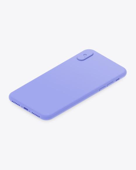Isometric Clay Apple iPhone X Mockup