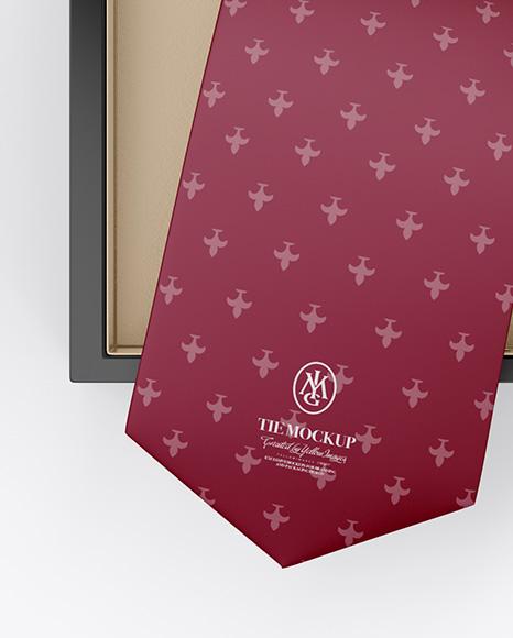 Glossy Box w/ Tie Mockup