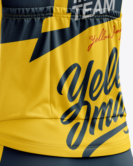 Men's Cycling Kit mockup (Back Half Side View)