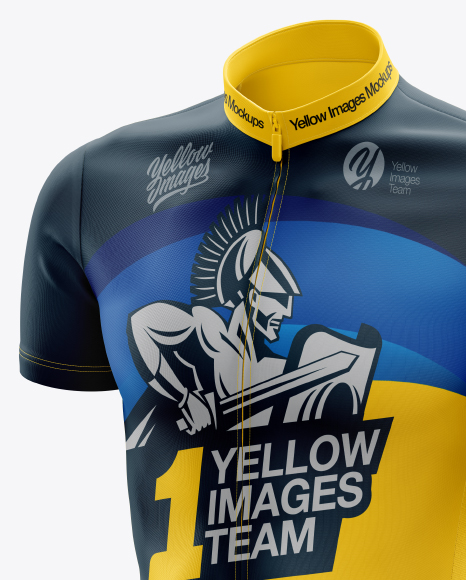 Download Mens Cross Country Jersey Mockup Back View Yellowimages