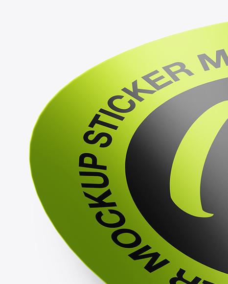 Metallic Round Sticker Mockup