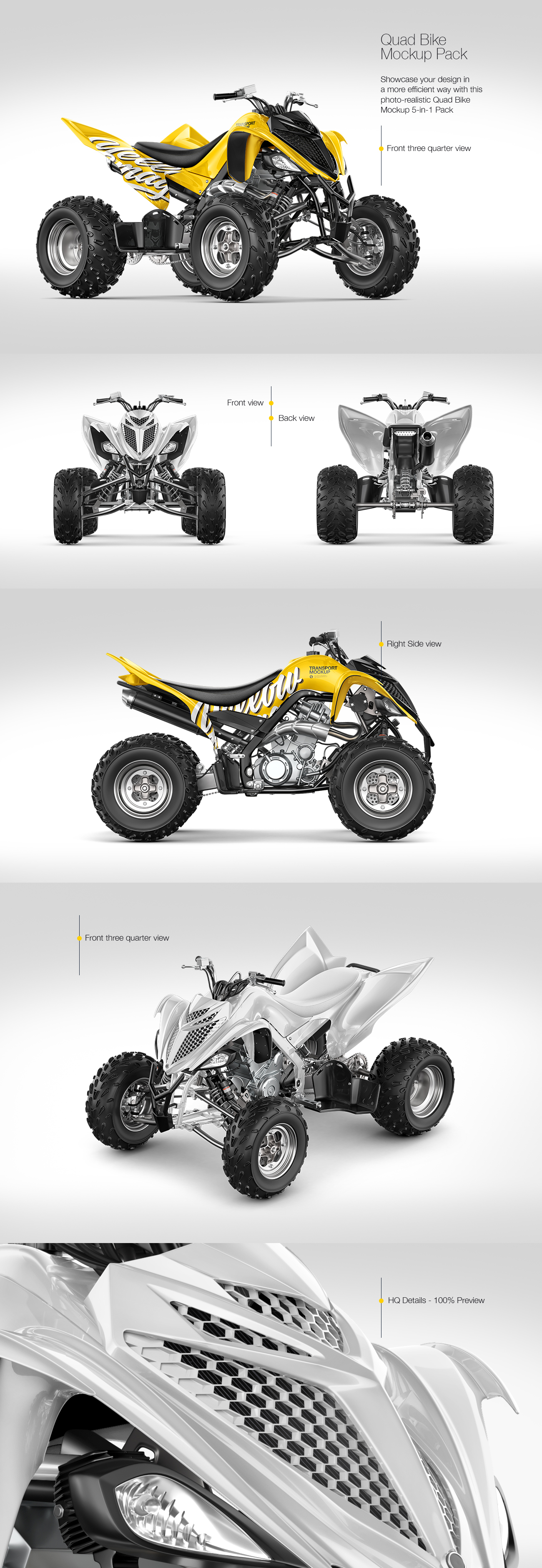 Quad Bike Mockup Pack