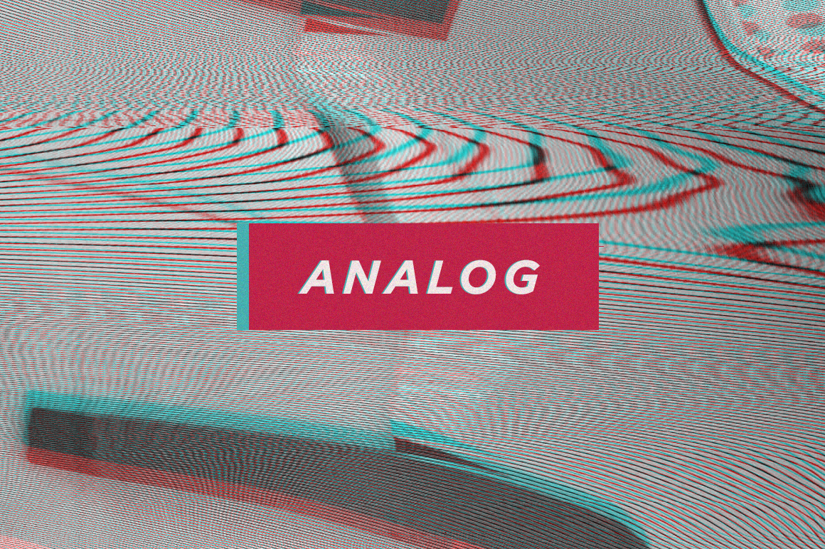 Analog Video Distortion Glitch Textures
