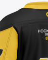 Men's Hockey Jersey Mockup - Back Half-Side View