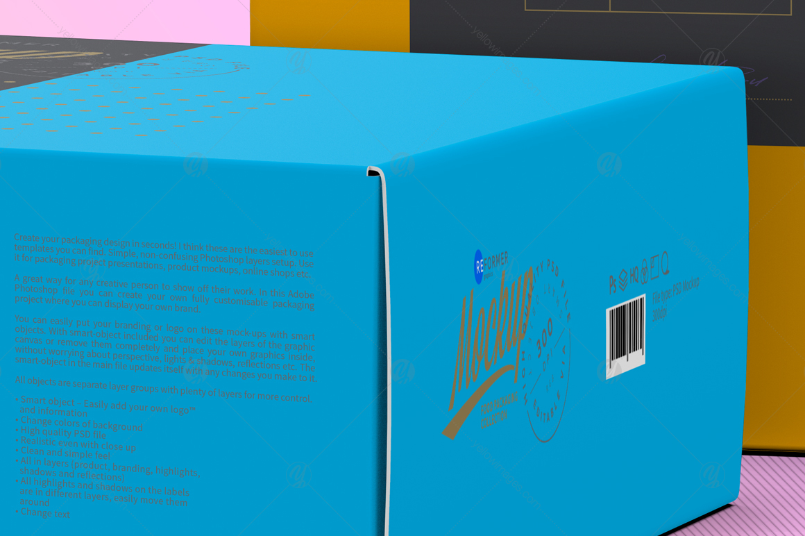 Two Cardboard Box Mockup
