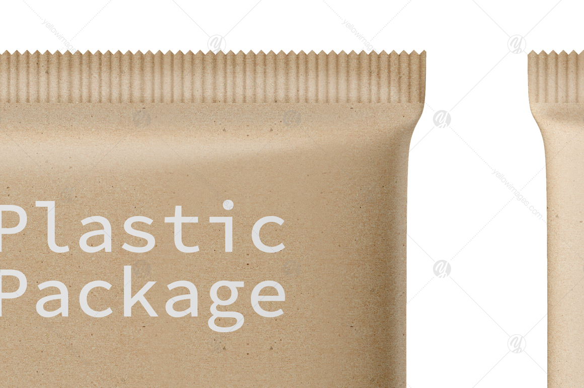 Kraft Snack Package Mockup Front & Back View