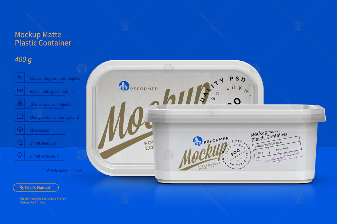 400g Plastic Container Mockup