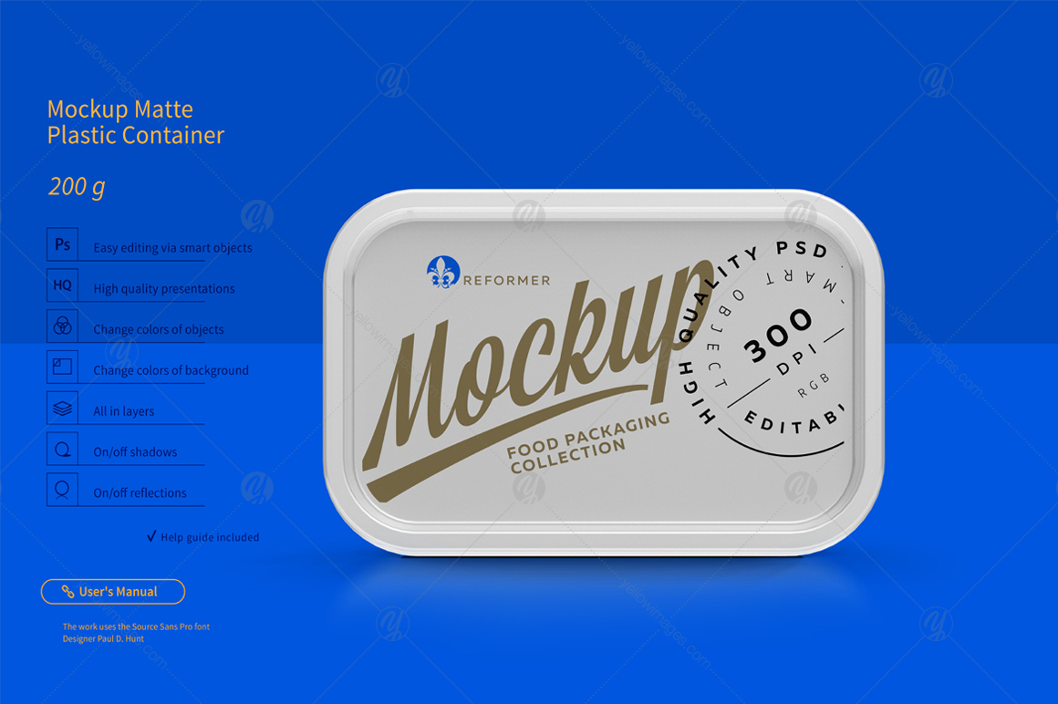 200g Plastic Container Mockup