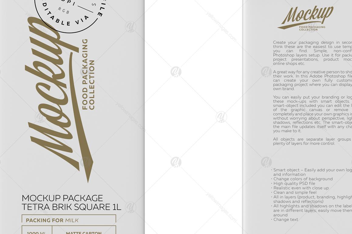 Mockup Poster Package Tetra Brik Square 1L