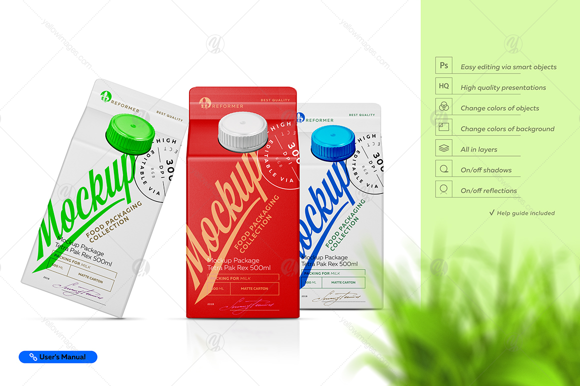 Mockup Poster Package Tetra Pak Rex In Packaging Mockups On