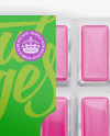 Chewing Gum in Blister Package Mockup - Top