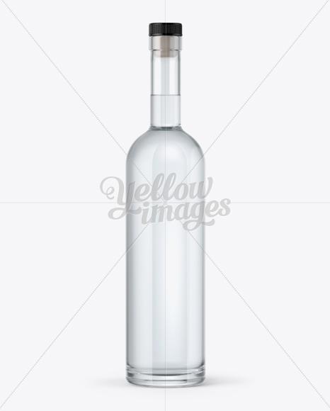 750ml Flint Glass Arizona Bottle with Vodka Mockup