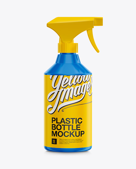 Download Plastic Trigger Spray Bottle Mockup in Bottle Mockups on ... Free Mockups