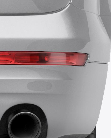 Audi Q7 Mockup - Back View