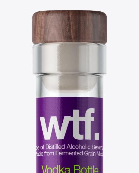 750ml Flint Glass Arizona Bottle w/ Vodka Mockup