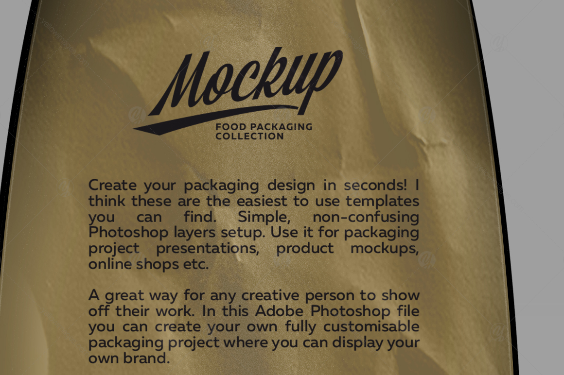 Paper Bag Mockup left & front Side View