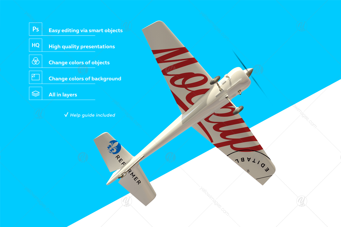 White Aerobatic Aircraft Mockup