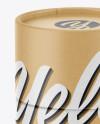 Kraft Paper Tube Mockup