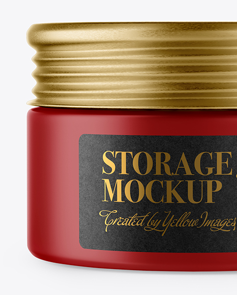 Matte Storage Jar Mockup
