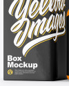 Glossy Pills Bottle with Box Mockup