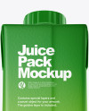 200ml Matte Juice Carton Package Mockup