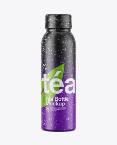 Bottle w/ Condensation in Shrink Sleeve Mockup