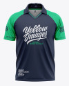 Men's Raglan Short Sleeve Cricket Jersey / Polo Shirt - Back View Of Soccer Jersey