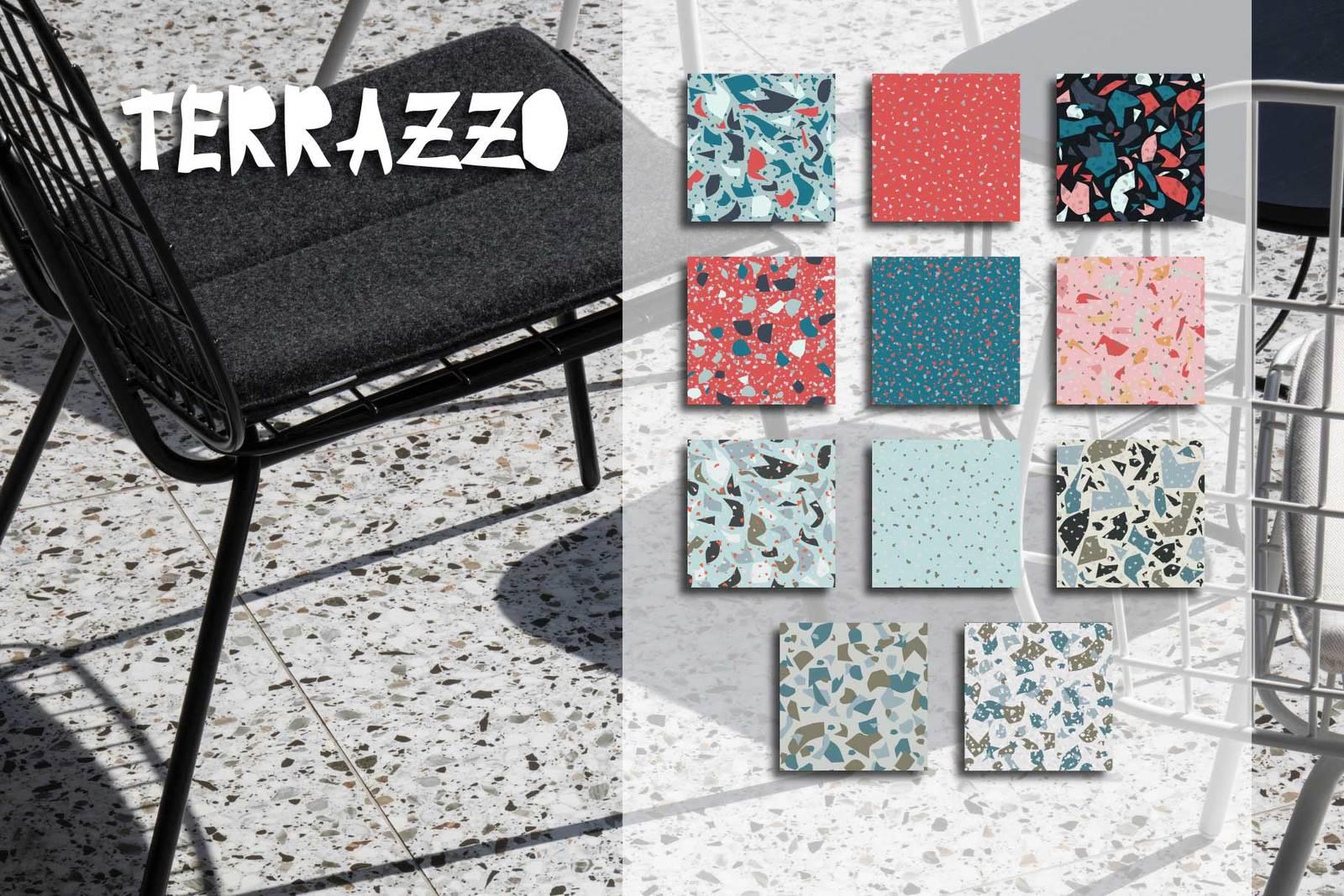 30 terrazzo seamless patterns