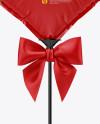 Glossy Heart Foil Balloon Mockup