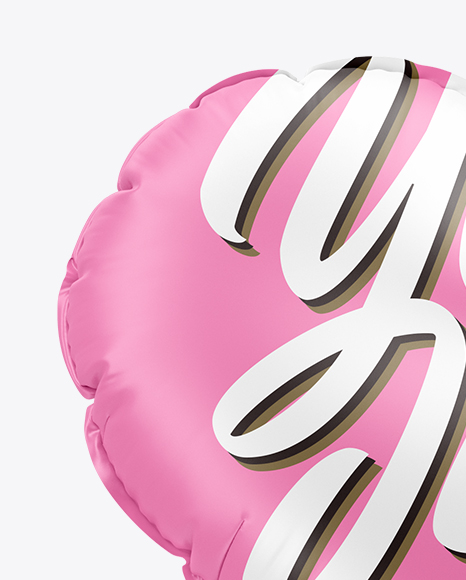 Matte Heart Foil Balloon Mockup