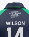 Men's Raglan Short Sleeve Cricket Jersey / Polo Shirt - Back View Of Soccer Jersey