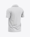 Men's Raglan Short Sleeve Cricket Jersey / Polo Shirt - Back Half Side View Of Soccer Jersey